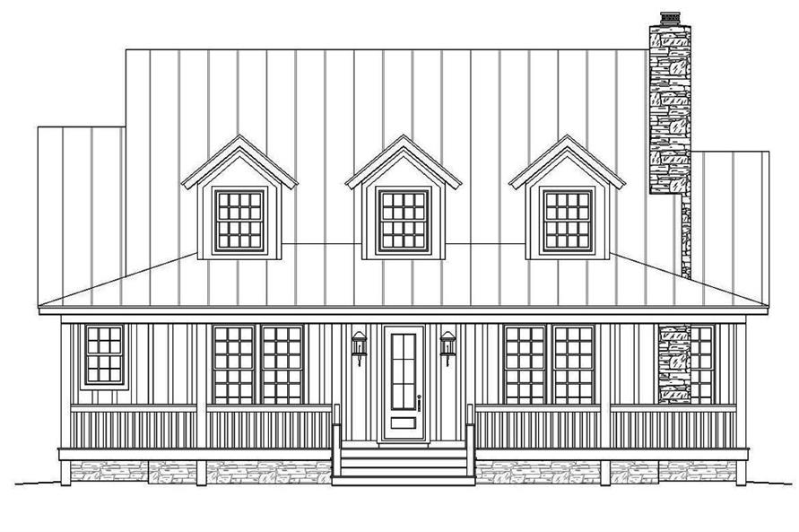 Home Plan Front Elevation of this 3-Bedroom,1990 Sq Ft Plan -196-1047