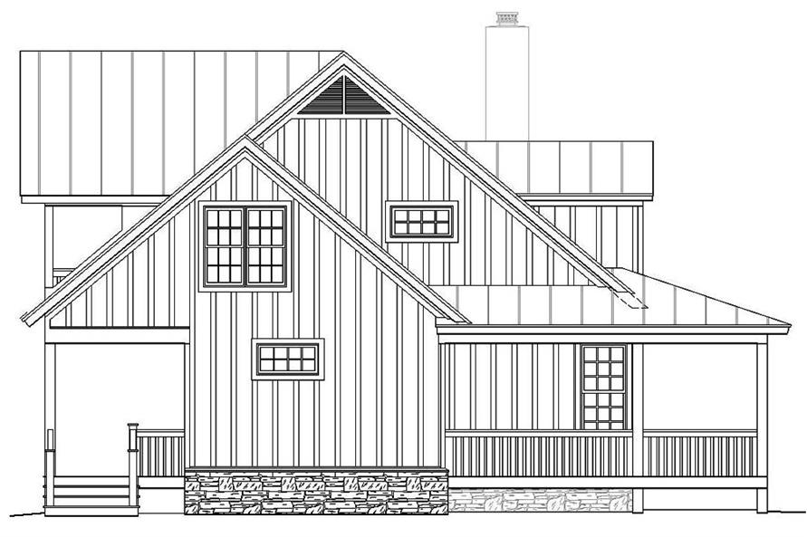 Home Plan Left Elevation of this 3-Bedroom,1990 Sq Ft Plan -196-1047