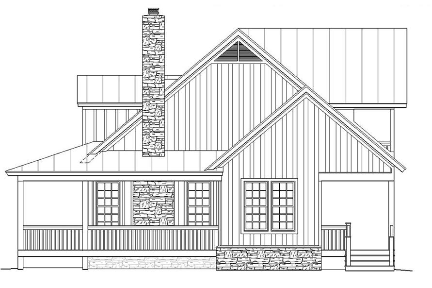 Home Plan Right Elevation of this 3-Bedroom,1990 Sq Ft Plan -196-1047