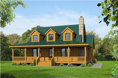 3-Bedroom, 1990 Sq Ft Country House Plan - 196-1047 - Front Exterior