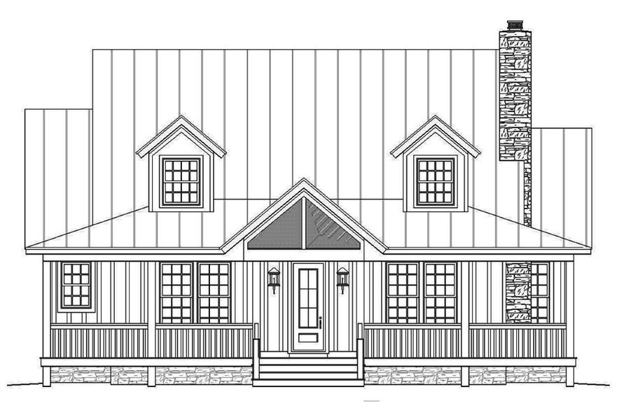 Home Plan Front Elevation of this 3-Bedroom,1990 Sq Ft Plan -196-1048