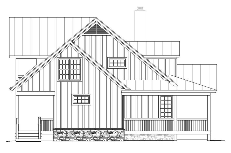 Home Plan Left Elevation of this 3-Bedroom,1990 Sq Ft Plan -196-1048