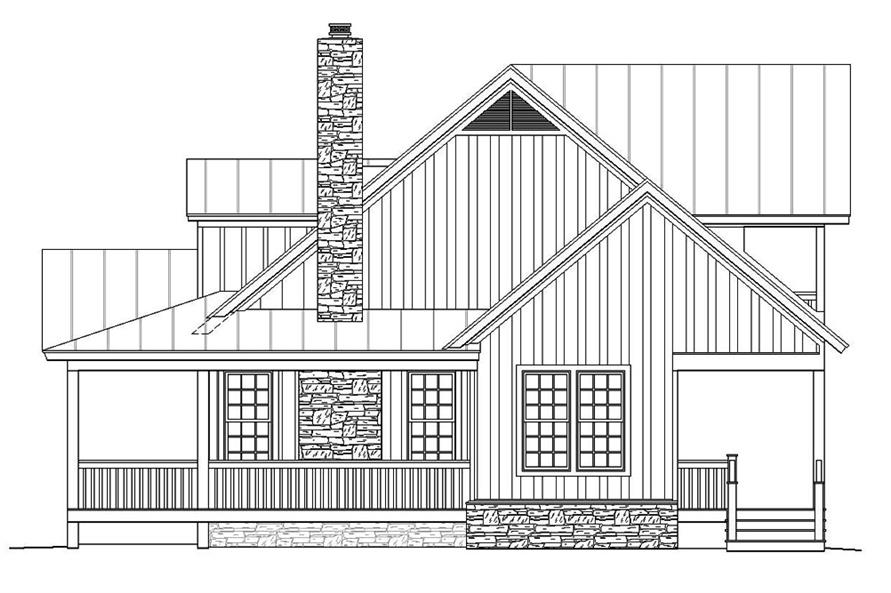 Home Plan Right Elevation of this 3-Bedroom,1990 Sq Ft Plan -196-1048