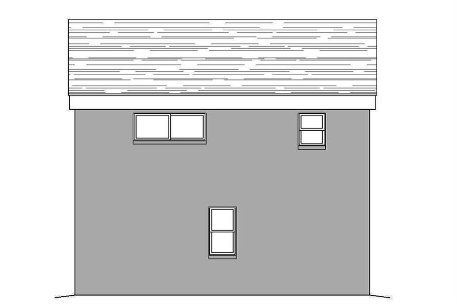 Home Plan Rear Elevation of this 1-Bedroom,820 Sq Ft Plan -196-1049