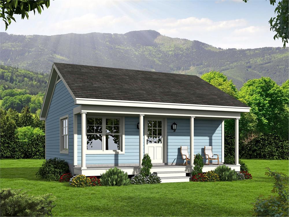 Small House home plan (ThePlanCollection: House Plan #196-1050)