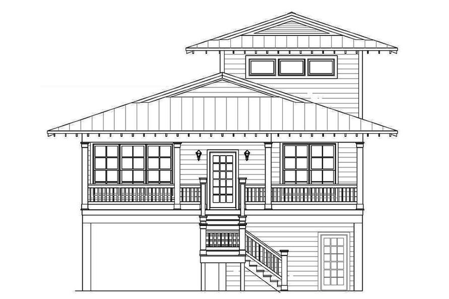 Home Plan Front Elevation of this 4-Bedroom,2000 Sq Ft Plan -196-1061