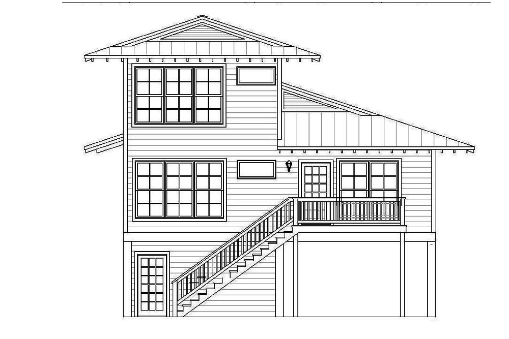 Vacation homes floor plan 4 bedrms 4 baths 2000 sq ft for 10 foot ceiling house plans