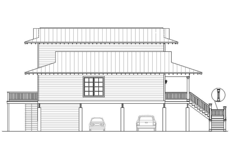 196-1061: Home Plan Left Elevation