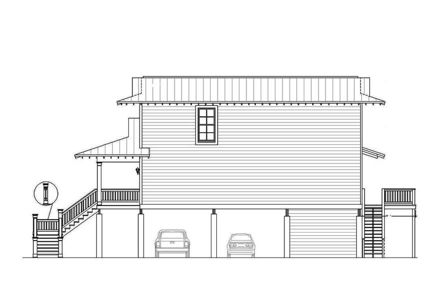 Home Plan Right Elevation of this 4-Bedroom,2000 Sq Ft Plan -196-1061
