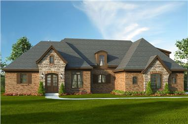 4-Bedroom, 3500 Sq Ft Luxury House - Plan #196-1062 - Front Exterior