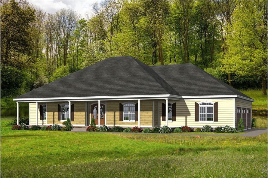 Home Plan Rendering of this 4-Bedroom,3491 Sq Ft Plan -3491