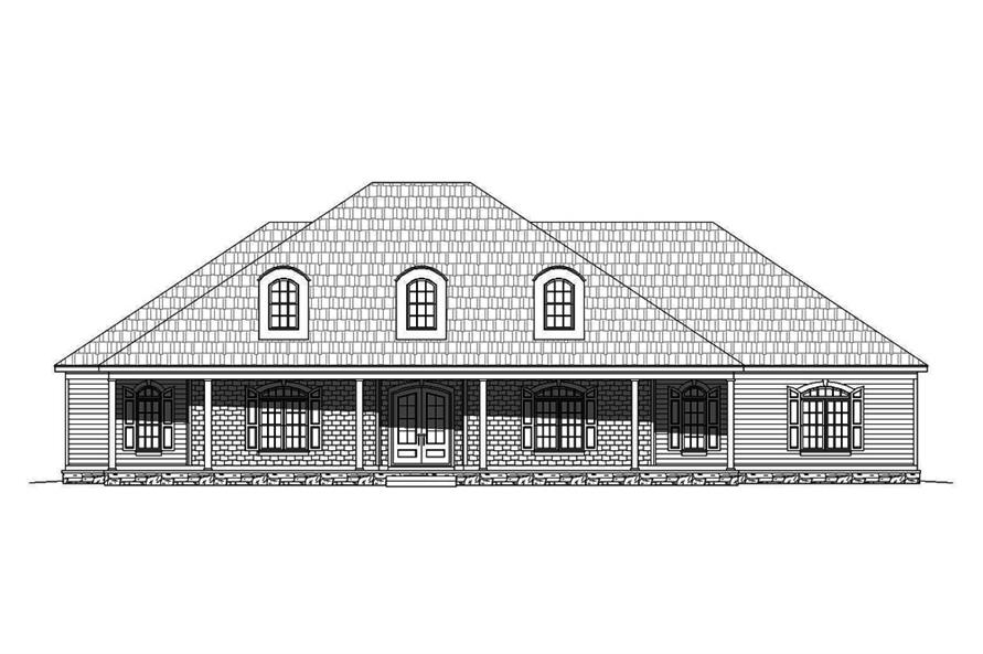 Home Plan Front Elevation of this 4-Bedroom,3491 Sq Ft Plan -196-1063