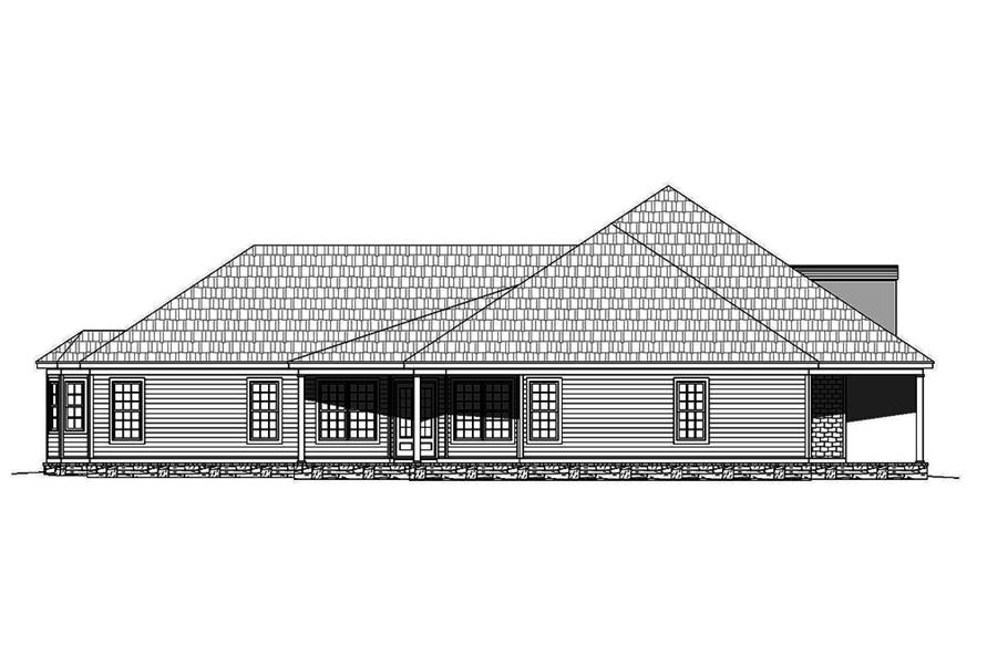 Home Plan Left Elevation of this 4-Bedroom,3491 Sq Ft Plan -196-1063