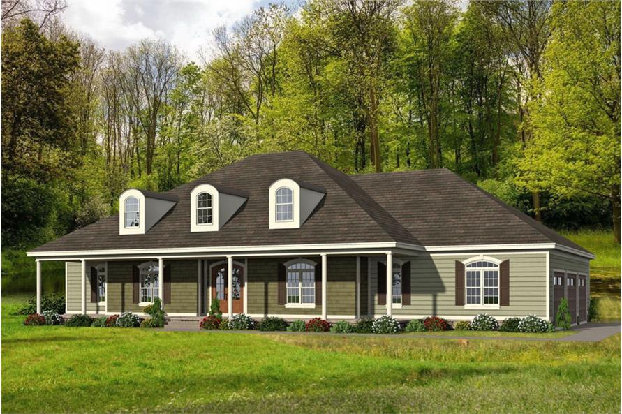 4-Bedroom, 3491 Sq Ft Ranch House - Plan #196-1063 - Front Exterior
