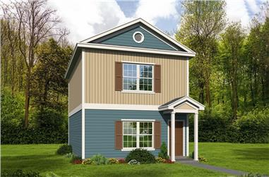 2-Bedroom, 1140 Sq Ft Traditional Home Plan - 196-1067 - Main Exterior