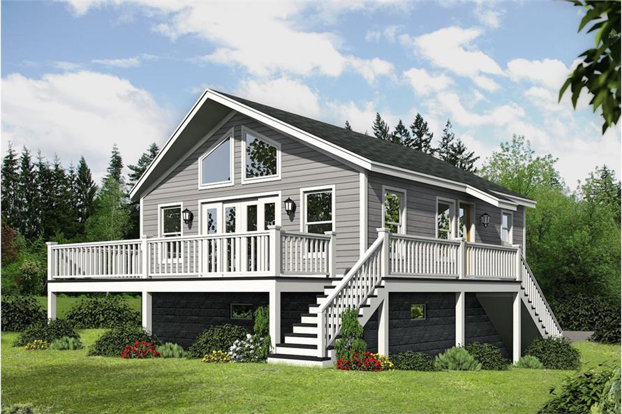 Home Plan Rendering of this 1-Bedroom,780 Sq Ft Plan -780