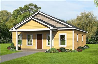 2-Bedroom, 1050 Sq Ft Cottage House Plan - 196-1069 - Front Exterior