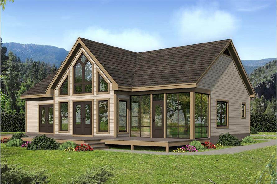 Home Plan Rendering of this 2-Bedroom,1273 Sq Ft Plan -1273