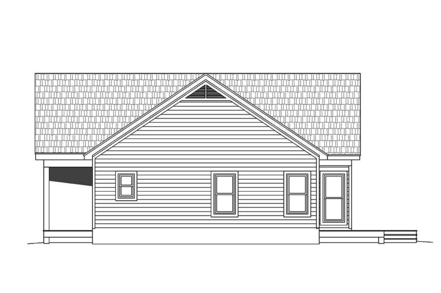 Home Plan Right Elevation of this 2-Bedroom,1273 Sq Ft Plan -196-1070