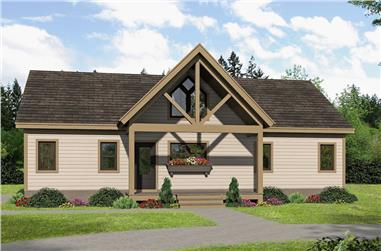 2-Bedroom, 1273 Sq Ft Country House - Plan #196-1070 - Front Exterior