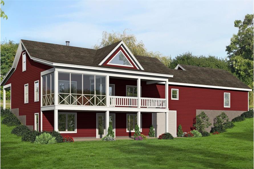 Home Plan Rendering of this 2-Bedroom,1650 Sq Ft Plan -1650