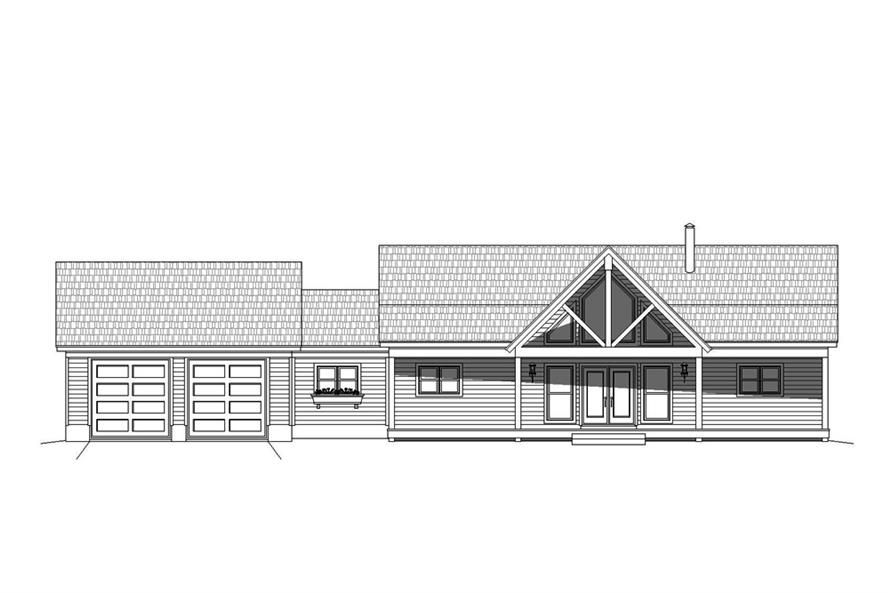 Home Plan Front Elevation of this 2-Bedroom,1650 Sq Ft Plan -196-1072