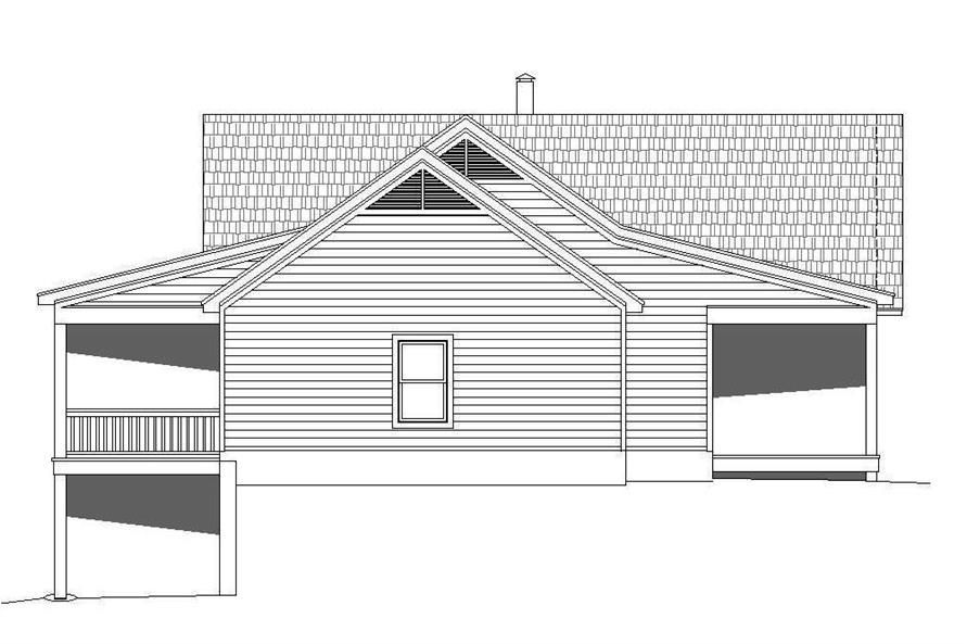 Home Plan Left Elevation of this 2-Bedroom,1650 Sq Ft Plan -196-1072