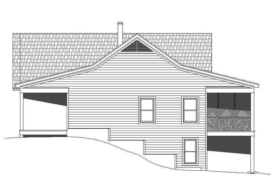 Home Plan Right Elevation of this 2-Bedroom,1650 Sq Ft Plan -196-1072