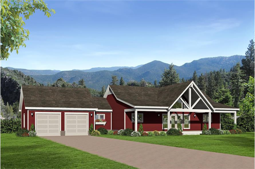 2-Bedroom, 1650 Sq Ft Country House - Plan #196-1072 - Front Exterior
