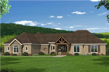 3–4-Bedroom, 3292 Sq Ft Luxury House - Plan #196-1076 - Front Exterior
