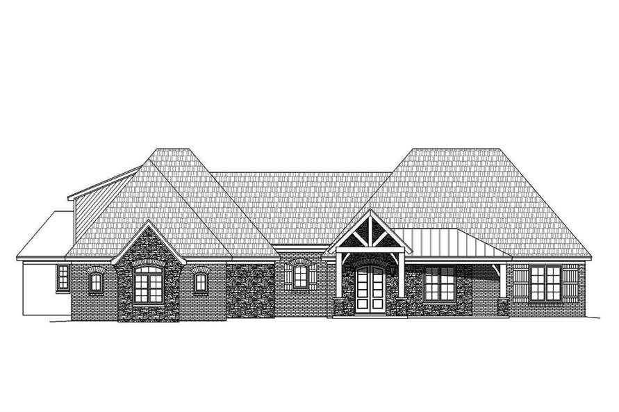 Home Plan Front Elevation of this 3-Bedroom,2895 Sq Ft Plan -196-1078
