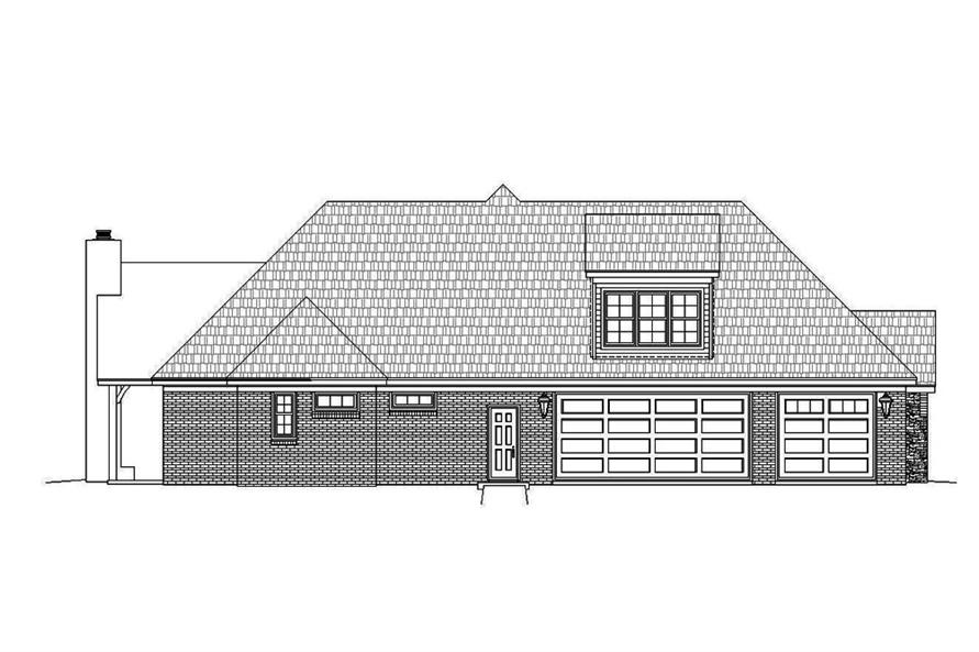 Home Plan Left Elevation of this 3-Bedroom,2895 Sq Ft Plan -196-1078
