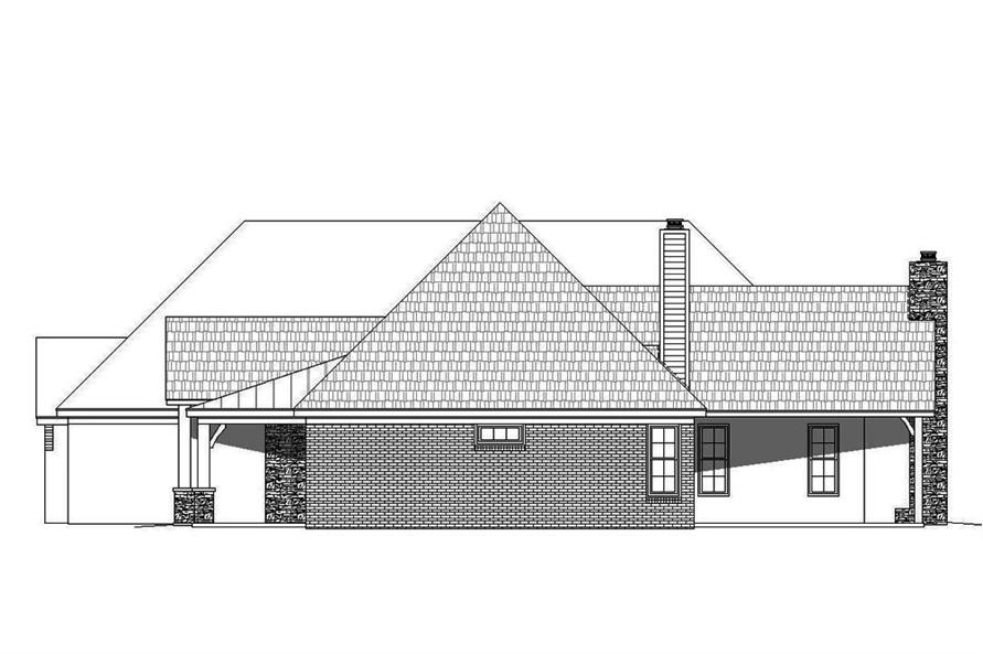 Home Plan Right Elevation of this 3-Bedroom,2895 Sq Ft Plan -196-1078