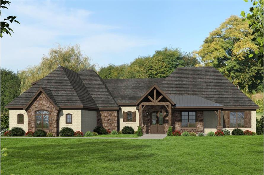 3-Bedroom, 2895 Sq Ft Traditional House Plan - 196-1078 - Front Exterior