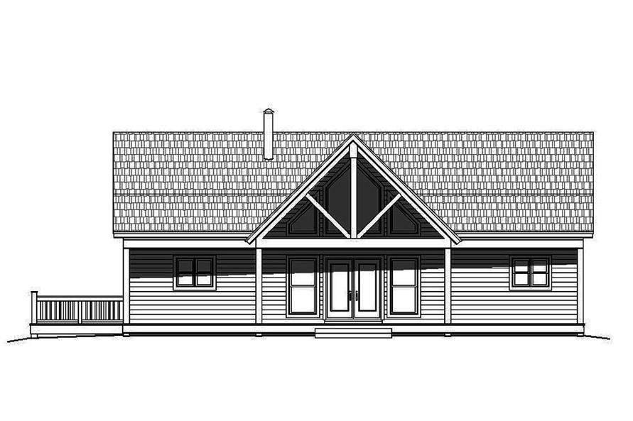 Home Plan Front Elevation of this 2-Bedroom,2000 Sq Ft Plan -196-1083