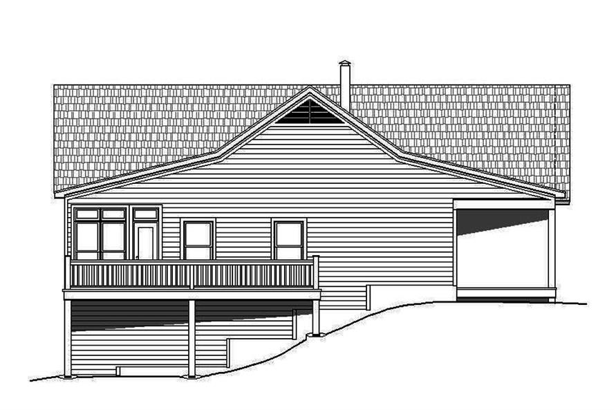 Home Plan Left Elevation of this 2-Bedroom,2000 Sq Ft Plan -196-1083