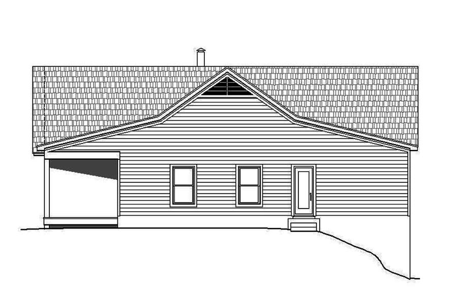 Home Plan Right Elevation of this 2-Bedroom,2000 Sq Ft Plan -196-1083