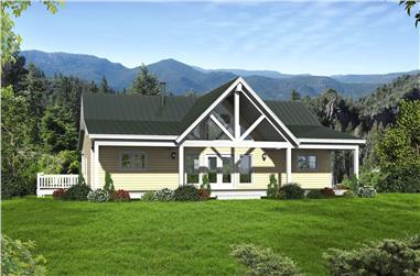 2-Bedroom, 2000 Sq Ft Traditional House Plan - 196-1083 - Front Exterior
