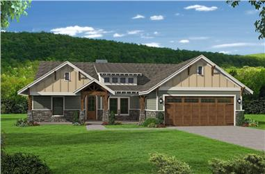 3-Bedroom, 2095 Sq Ft Traditional House Plan - 196-1085 - Front Exterior