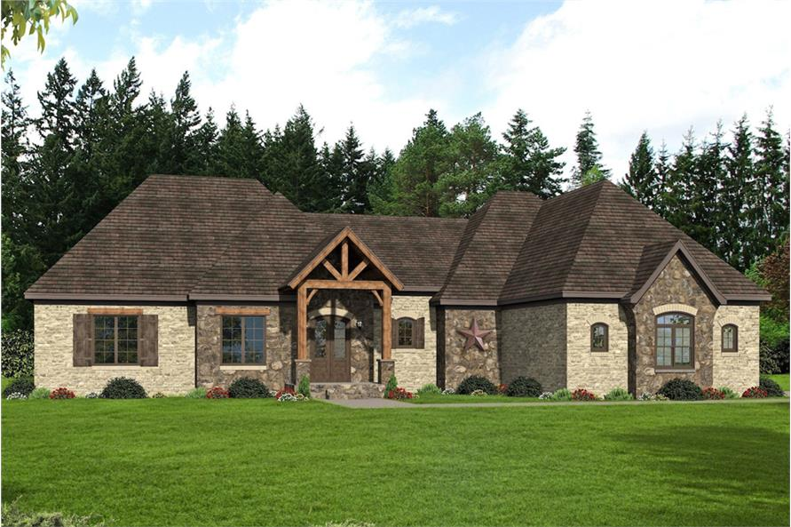 Home Plan Rendering of this 3-Bedroom,3452 Sq Ft Plan -3452