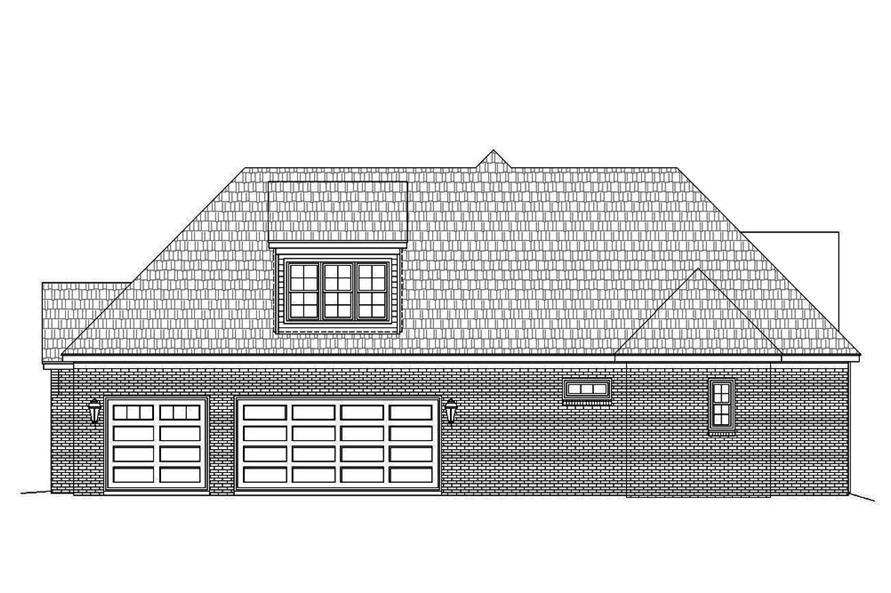 Home Plan Right Elevation of this 3-Bedroom,3452 Sq Ft Plan -196-1086