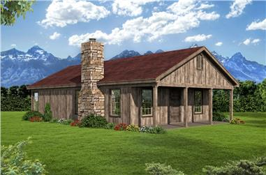 2-Bedroom, 1000 Sq Ft Ranch House Plan - 196-1087 - Front Exterior