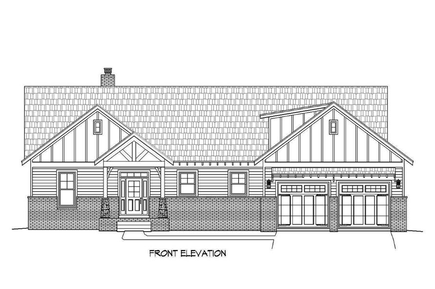 Ranch floor plan 3 bedrms 2 5 baths 2600 sq ft 196 for 2600 sq ft house plans