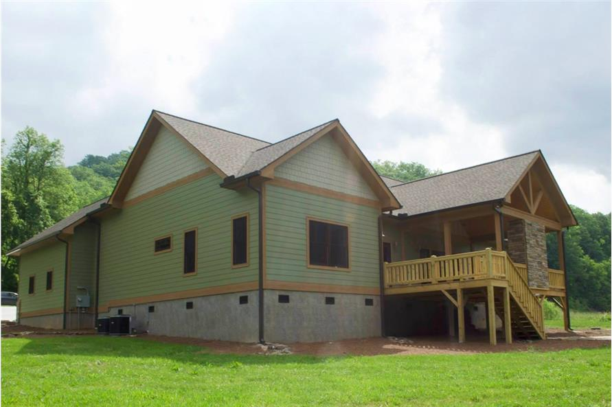 Rear View of this 3-Bedroom,2600 Sq Ft Plan -2600