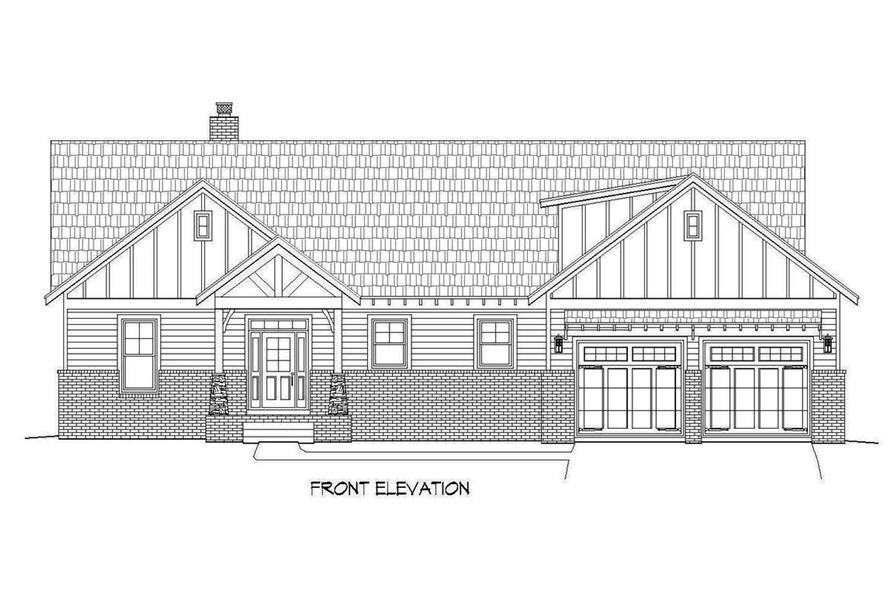 Home Plan Front Elevation of this 3-Bedroom,2235 Sq Ft Plan -196-1090