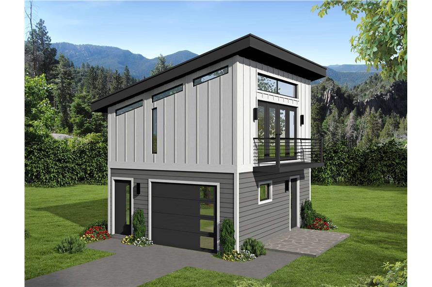 0-Bedroom, 400 Sq Ft Garage Home Plan - 196-1098 - Main Exterior