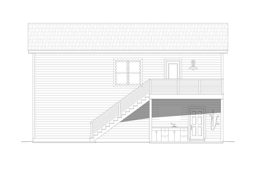 Home Plan Right Elevation of this 0-Bedroom,561 Sq Ft Plan -196-1099