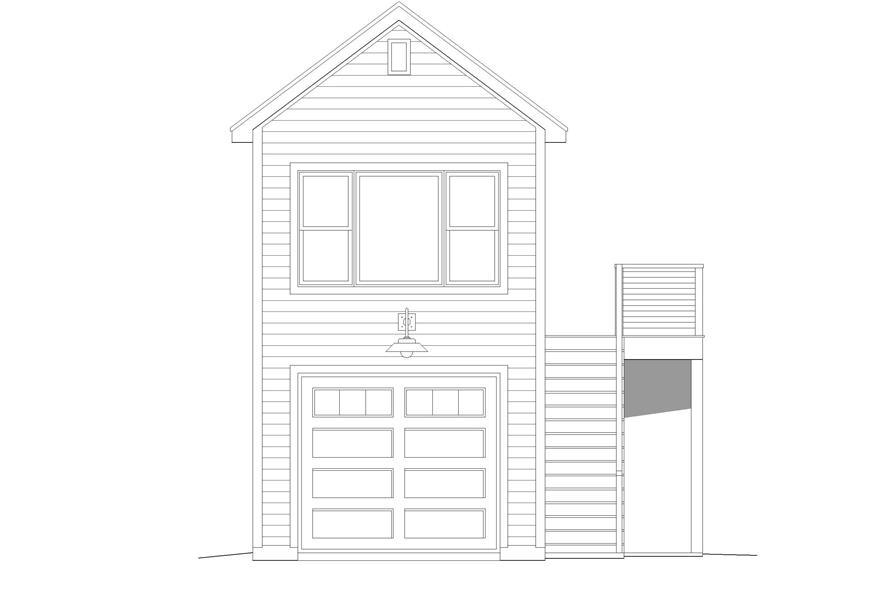 Home Plan Front Elevation of this 0-Bedroom,561 Sq Ft Plan -196-1099