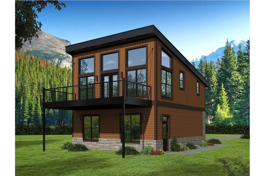 Home Plan Rendering of this 1-Bedroom,825 Sq Ft Plan -825