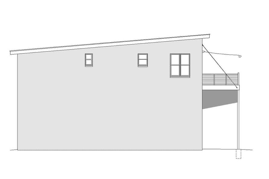 Home Plan Left Elevation of this 3-Bedroom,1400 Sq Ft Plan -196-1104